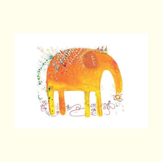 ゾウさんポストカード 2L版