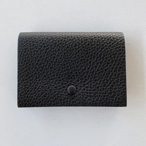 【Aeta】PEBBLE GRAIN COLLECTION /CARD CASE / BLACK / PG31