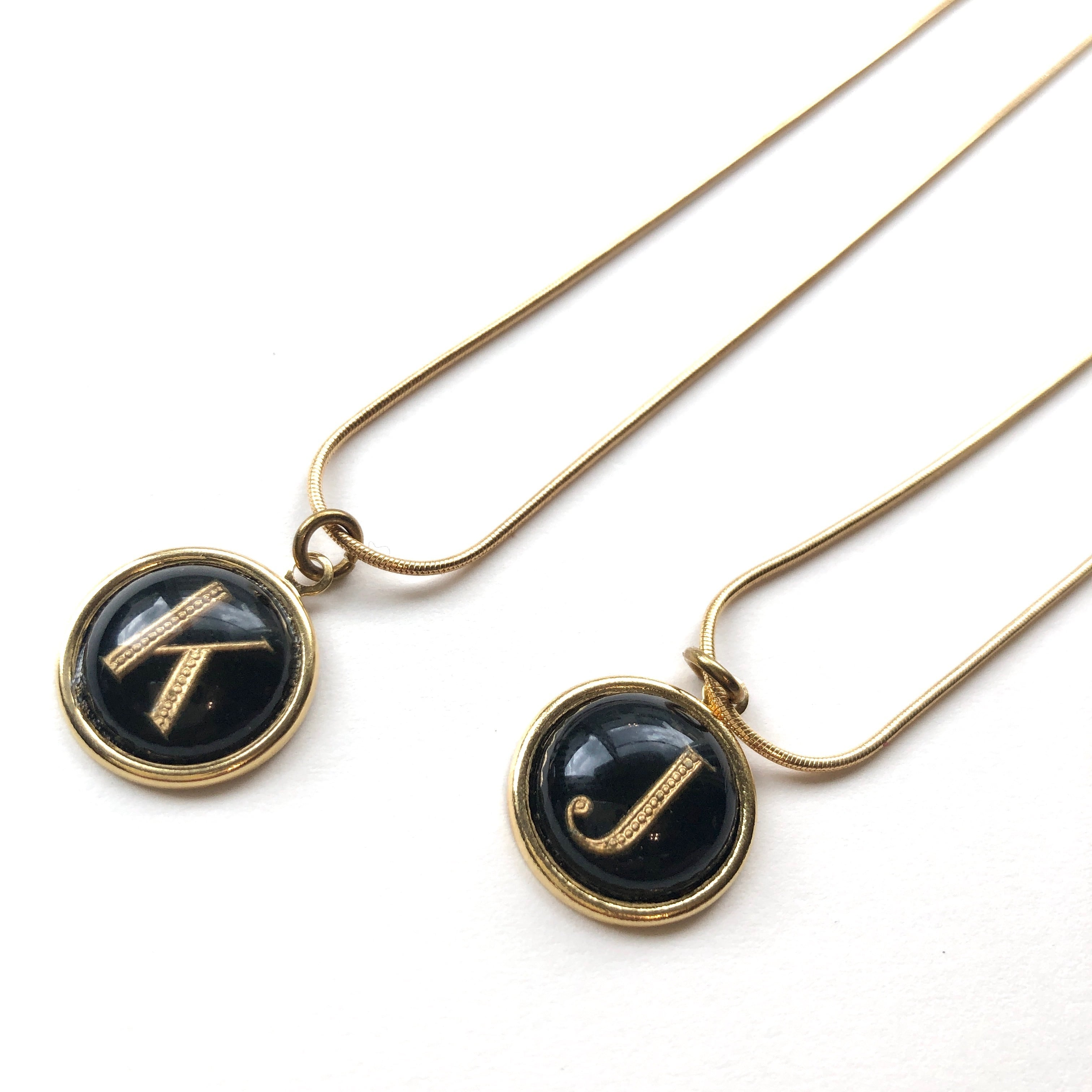 Letter charm necklace NC-031