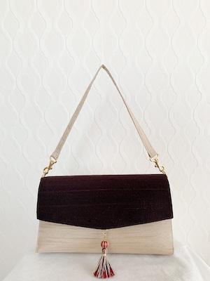 ちょっとしたお粧しバッグ -小豆茶-