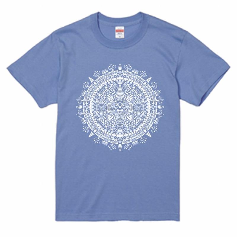AZTECA CALENDAR 古代カレンダーに思いを馳せて アステカ カレンダー サックスTシャツ