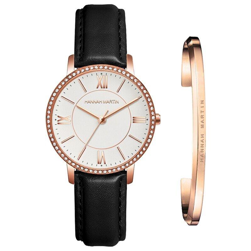 1セット時計&ブレスレット女性日本クォーツラインストーン腕時計トップブランド高級ファッションカジュアルレディース時計1072PH1-SZ