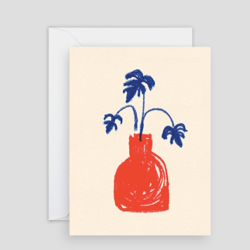 WRAP / Red Vase ART CARD - Illustrated by B.D. Graft-