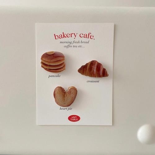 bakery mugnet set / ベーカリー マグネット セット パンケーキ クロワッサン 磁石 韓国 雑貨
