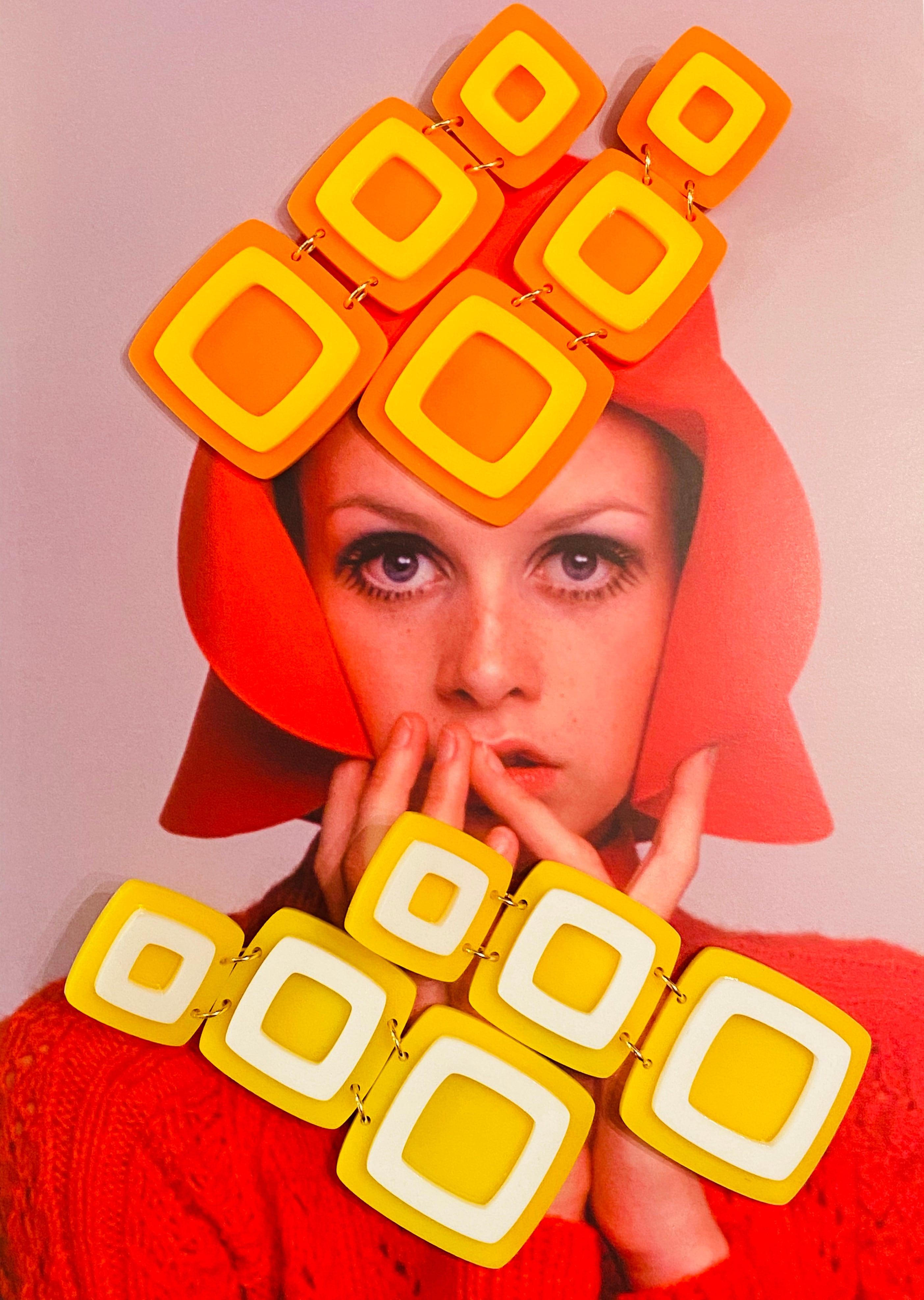 ADA BINKS 英国60's スタイル ピアス オレンジ アクセサリー