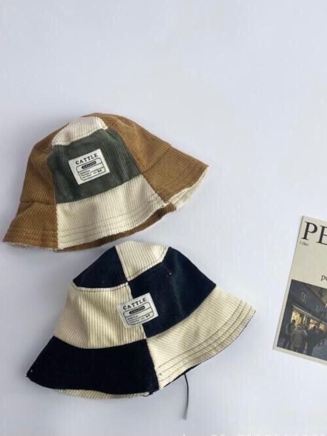バイカラー bucket hat