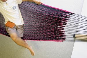 """ハンモック  """"Bed-mock""""  ( Black × Pink line )    Size-S  (180cm)"""
