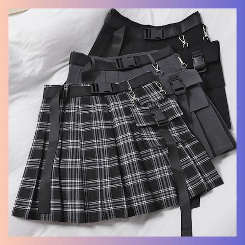 【お取り寄せ】ガーリィ ポーチ付き スカート 3種