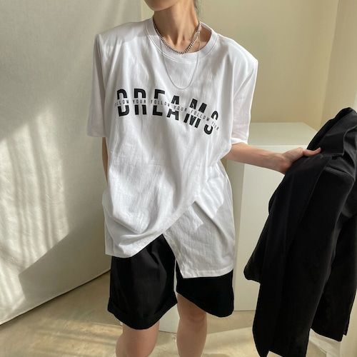 スリットレタリングTシャツ RD8352