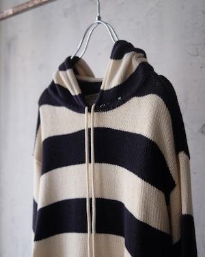 hoodie stripe knit