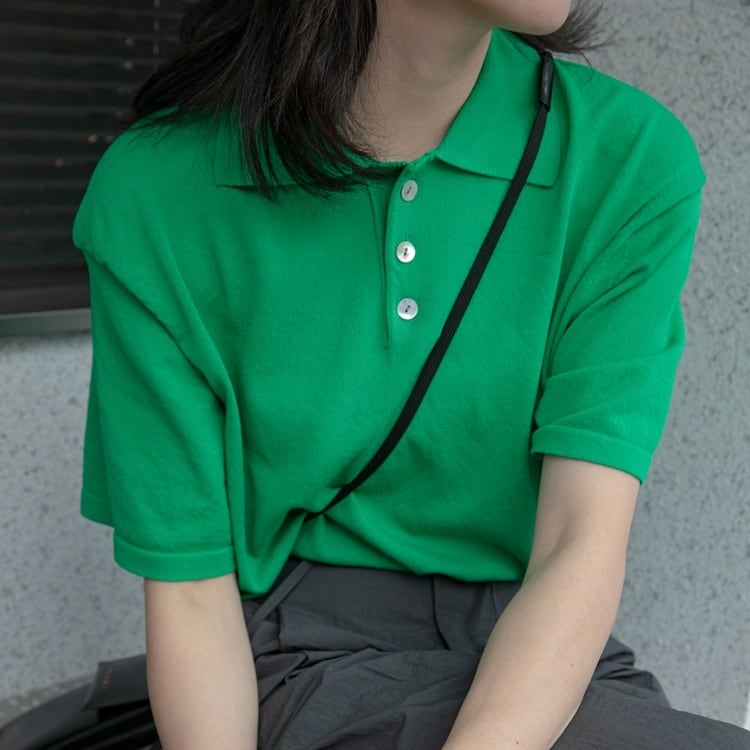 Summer polo shirt(サマーポロシャツ)b-243