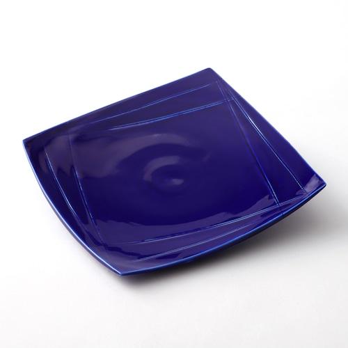 瑠璃釉角皿
