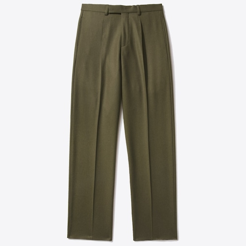Single-Pleat Trouser(Olive Green)