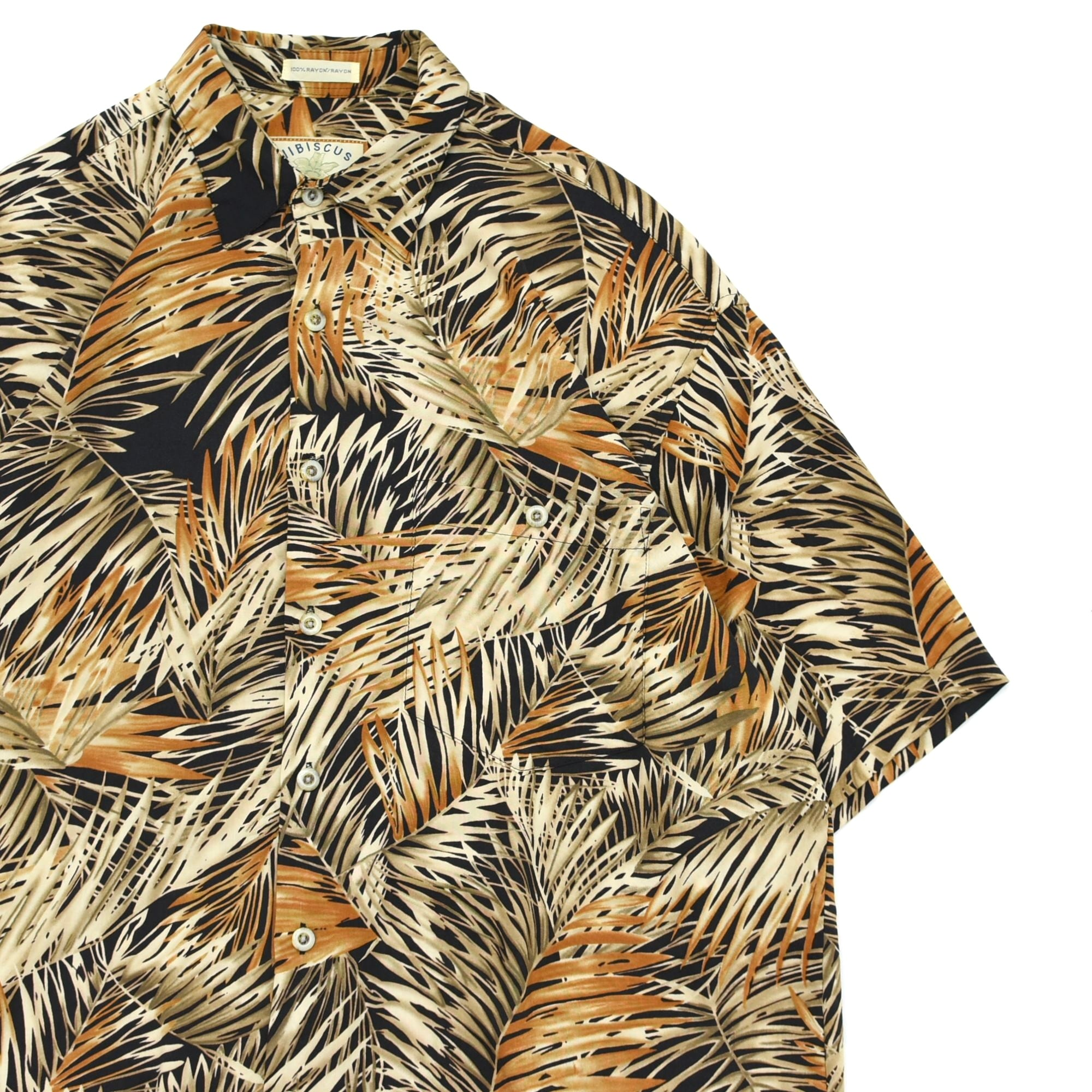 90's HIBISCUS HAWAII rayon aloha shirt