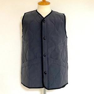 Teflon Gourd Cotton Touch Wave Quilt Vest Black