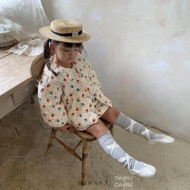 «sold out»«セット割引«ジュニアサイズあり» banana j quilting jacket + skirt set セット