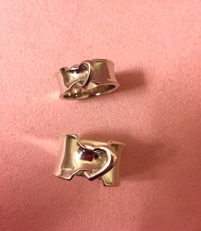 ribbon LOVERING.幅広 SILVER925 #00614-sv りぼんラブリング幅広/シルバー925