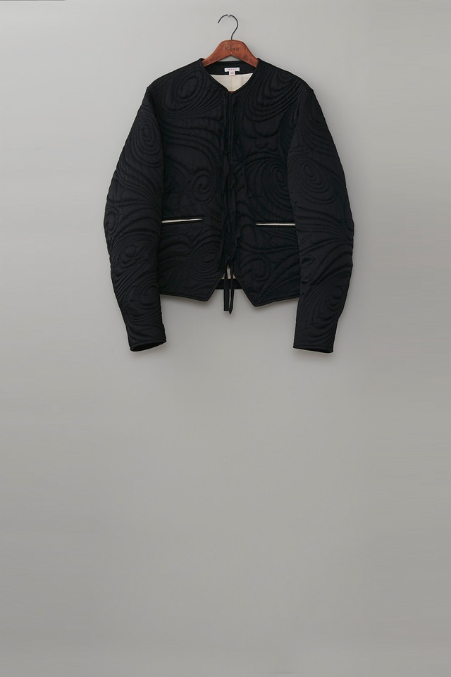 M A S U / PSYCHEDELIC QUILTING BLOUSON(BLACK)