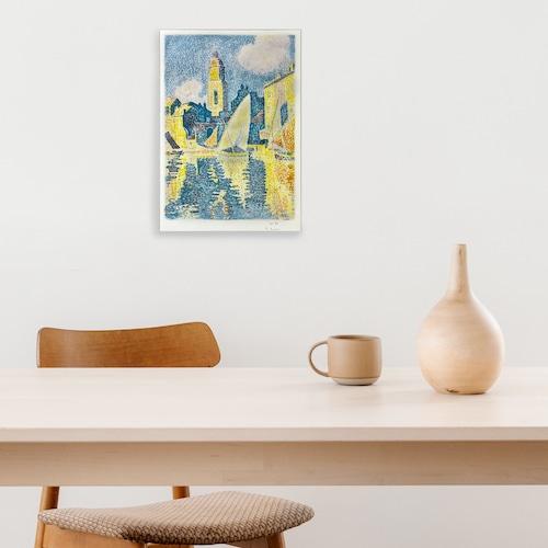素敵なアートパネル A4サイズ サントロペ港 ポール・シニャック
