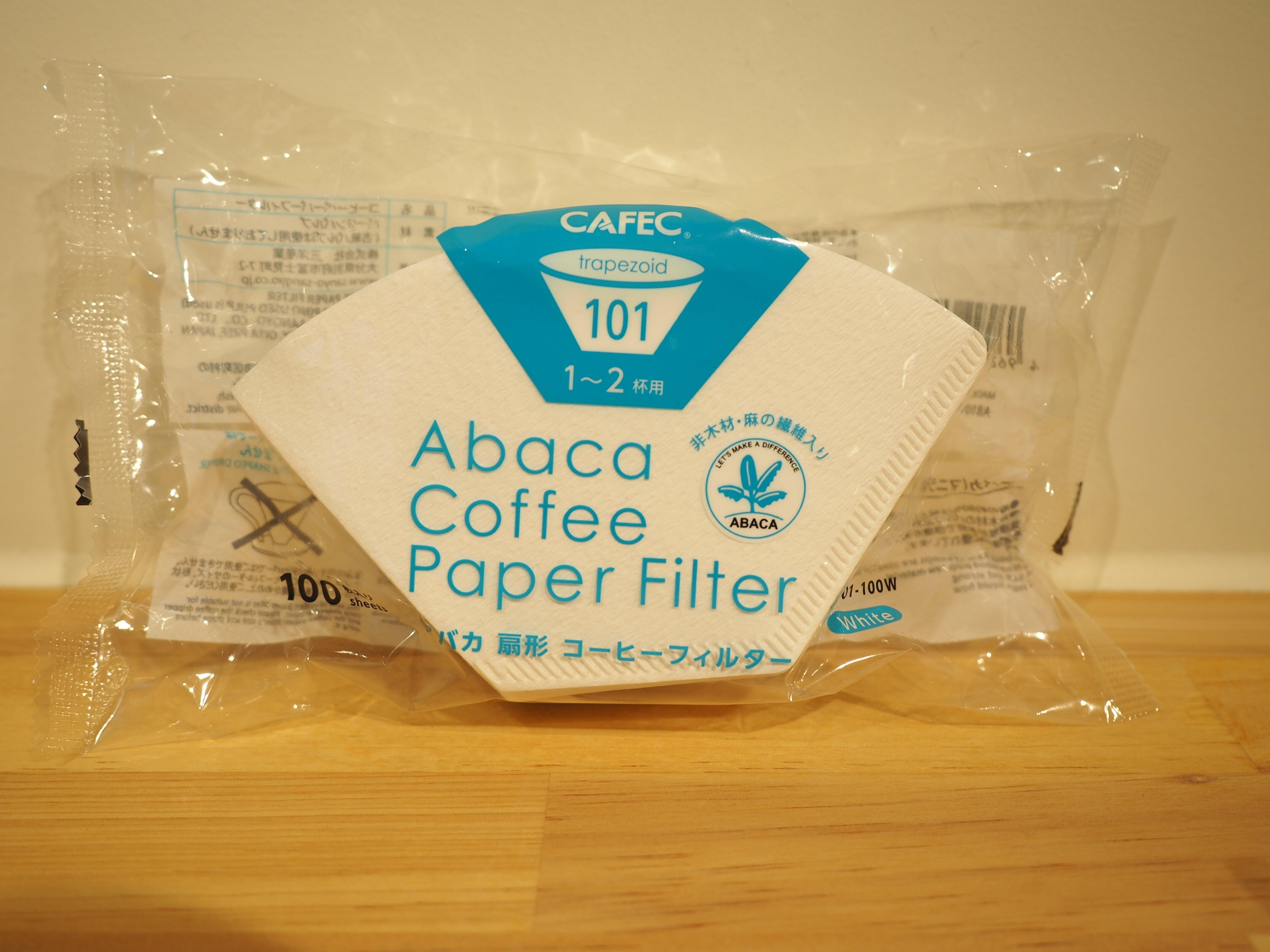 CAFEC アバカ台形 コーヒーフィルター 101