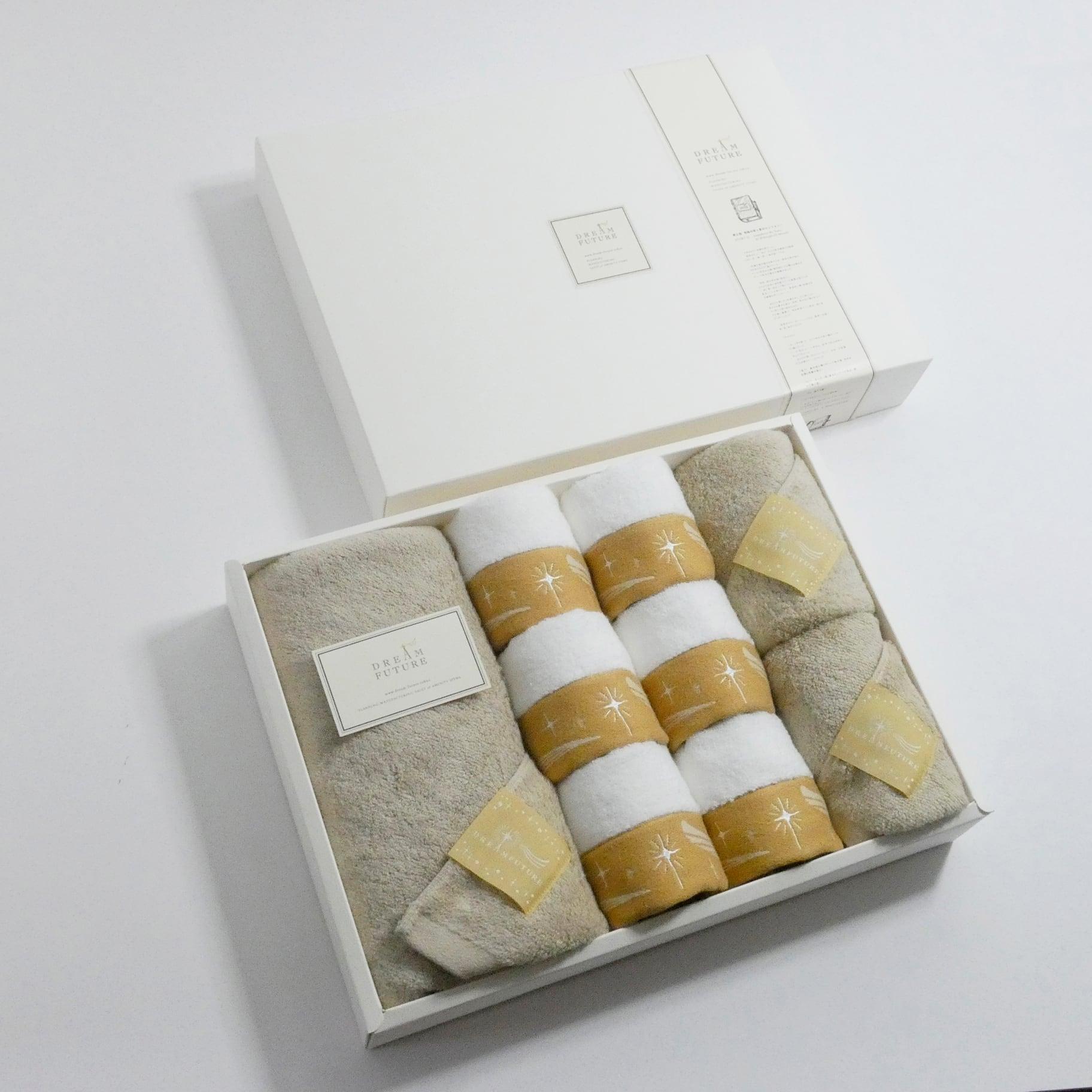 Star Premium Beige & Twinkle BEIGE 無撚糸(むねんし)高級Bath×Face×Hand Towel SET Star Beige / Star Beige  / Twinkle BEIGE