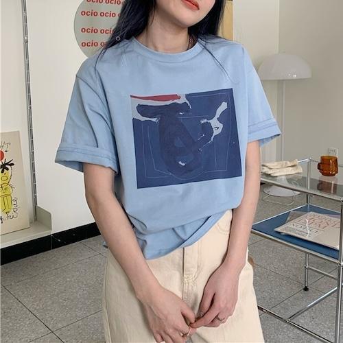 モダンアートプリントTシャツ RD8452
