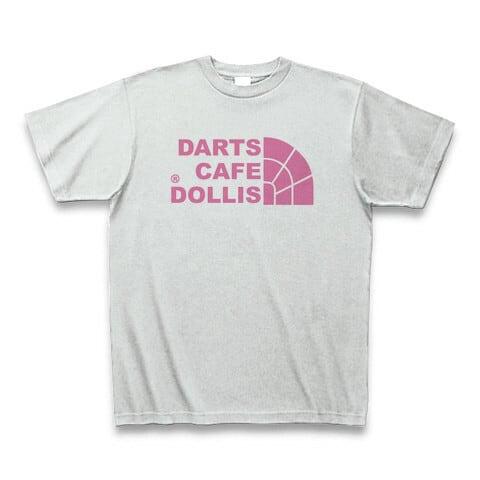 DOLLiSフェイスロゴTシャツ(灰/ピンク)
