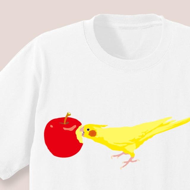 りんごとことりちゃんTシャツ(オカメインコ)