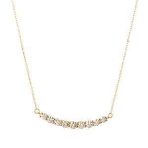 K18YGダイヤモンドネックレス 020201009197