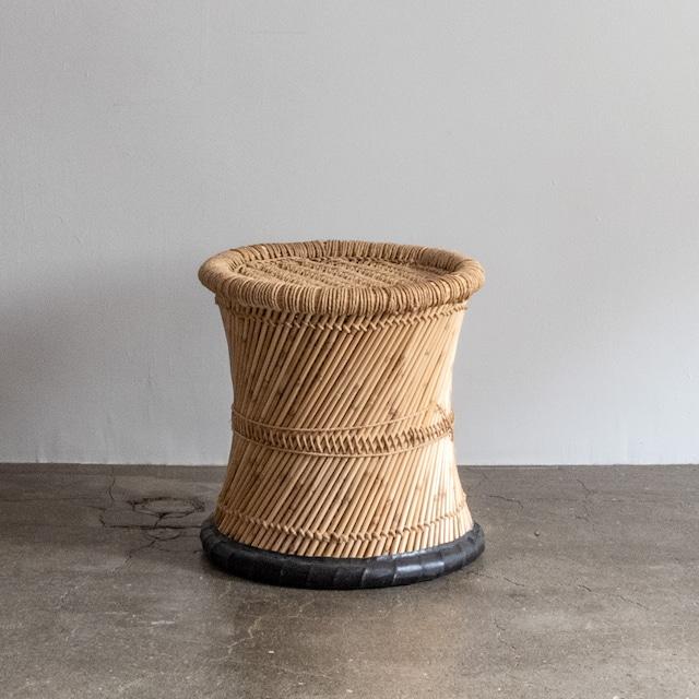 再入荷 JUTE STOOL インドのジュート(麻)とヨシ(葦)のスツール01