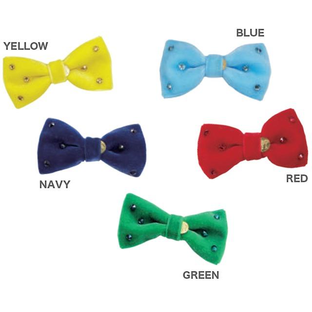 【予約】GodPiva キラキラリボンバレッタ YELLOW / NAVY / BLUE / RED / GREEN