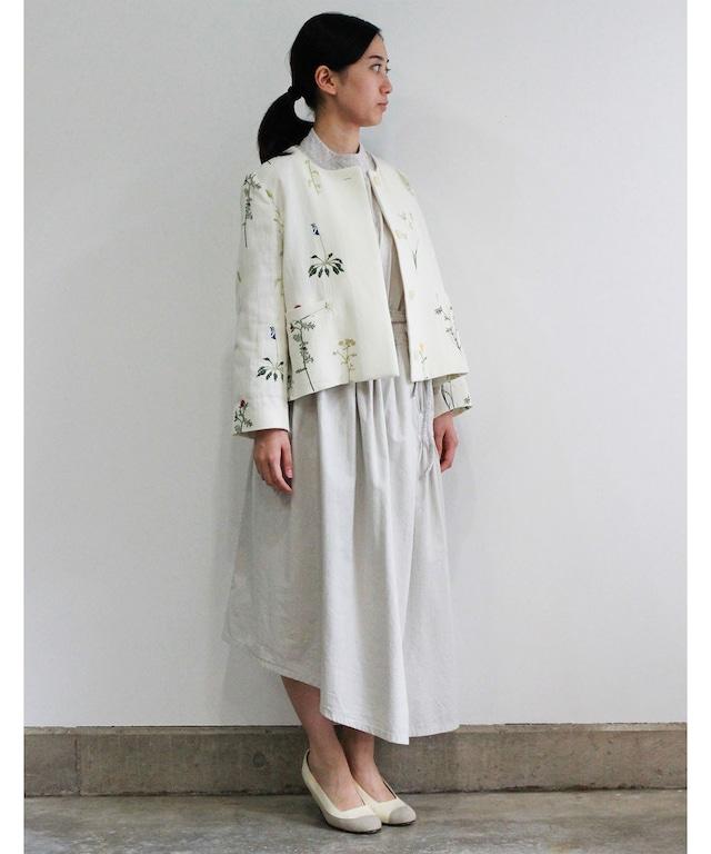 ボタニカル刺繍ジャケット  (evi506  WHT・ホワイト)