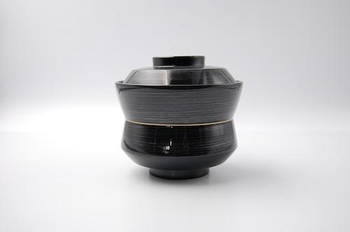 黒銀かすり杵型椀(大)