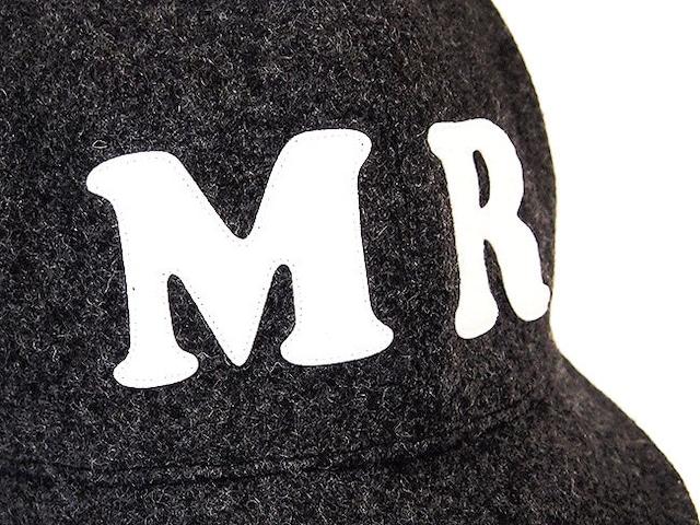 """ウール ベースボールキャップ 60㎝ """"WOOL BASE BALL CAP""""(GRAY """"MR"""" 60)"""