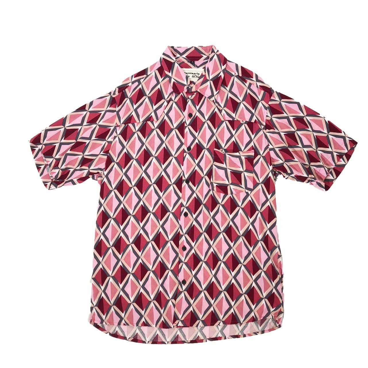 Caio Dias_Viscose Print Shirt:Light Pink