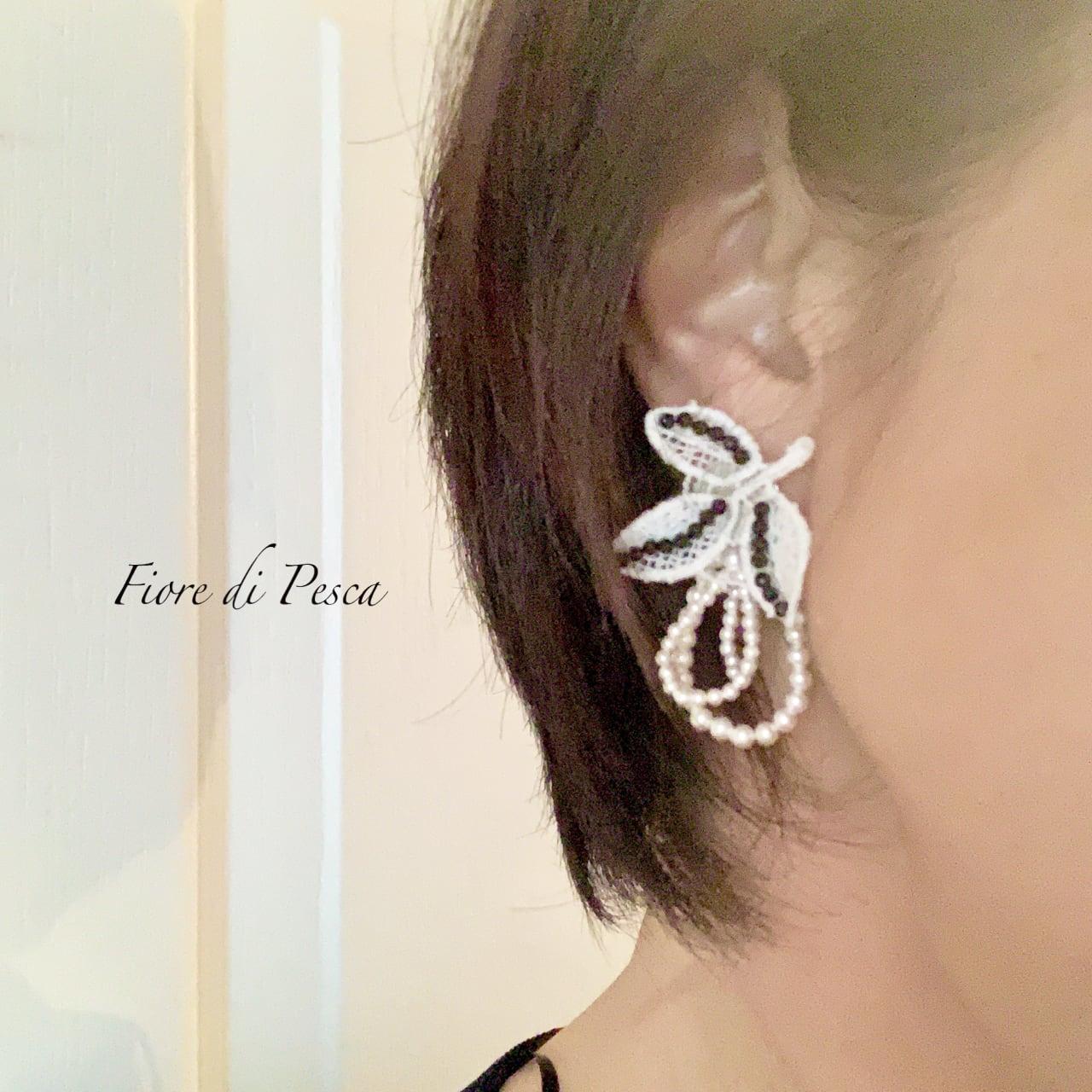 Hepburn Pierce/Earring(black)