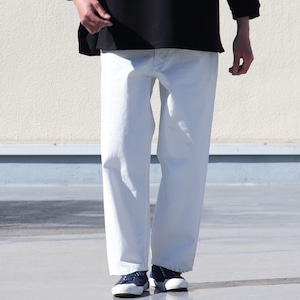 Selvedge Denim Utility Pants White