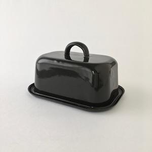 Black Enamel Butter Case|ホーローのバターケース