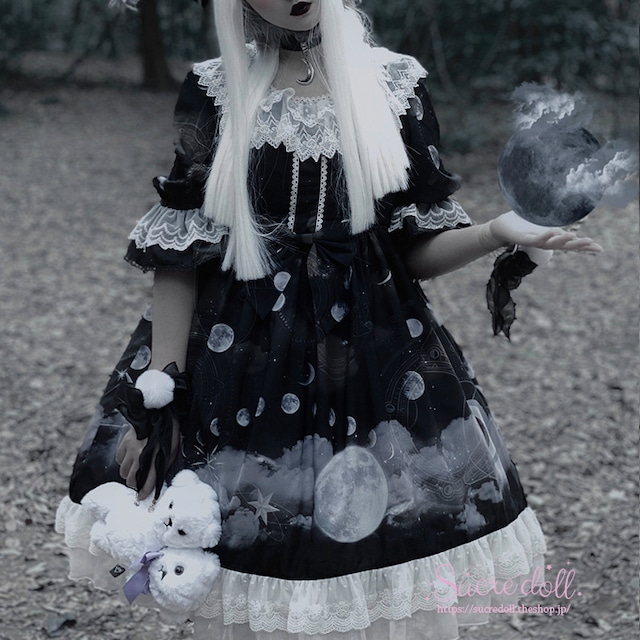[2color] Phases of the moon dress