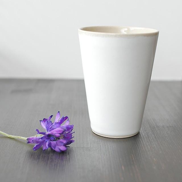 トチギマーケットオリジナル 益子焼フリーカップ 糠白釉