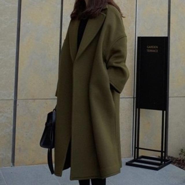 【アウター】韓国系合わせやすい気質よい上質感大好評 無地コート34199101