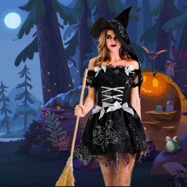 2020新作 ハロウィンかわいい魔女のドレス【2点セット】 YN2052