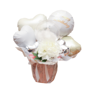 balloon001     Whitebase 〜mini flower arrange〜