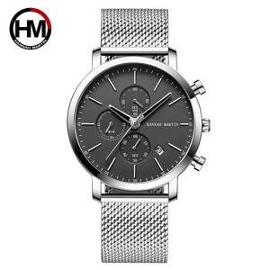 メンズウォッチトップブランドファッション多機能スモールダイヤルステンレススチールメッシュビジネス防水腕時計109H-WYY