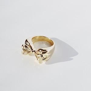 RING || 【通常商品】 PUKKURI RIBBON RING (GOLD) || 1 RING || GOLD || FBA017
