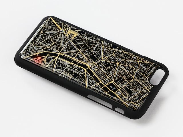 FLASH Paris回路地図 iPhone6/6s ケース 黒【東京回路線図A5クリアファイルをプレゼント】