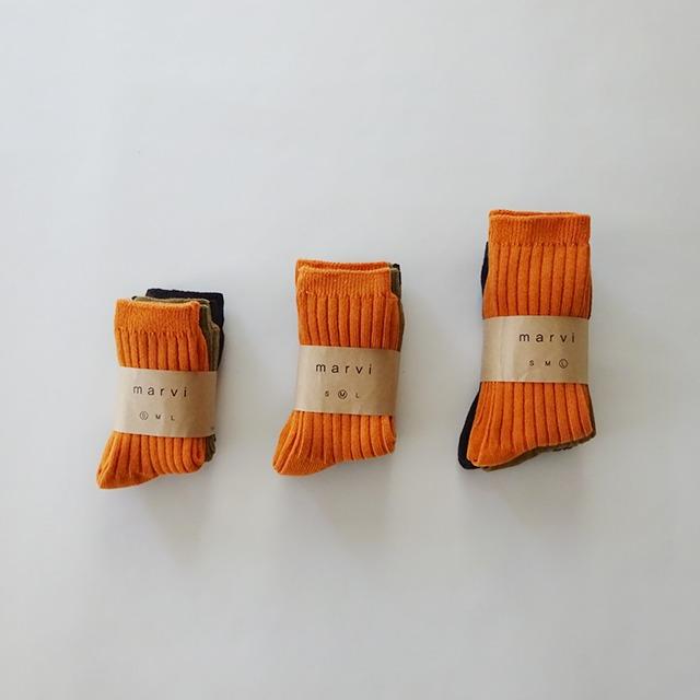 きちんとソックス 3足セット [orange]