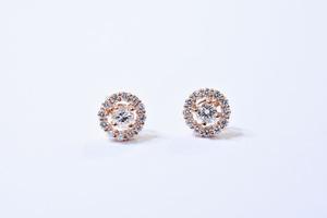 4月 誕生石 ダイヤモンド ピアス / K18PG