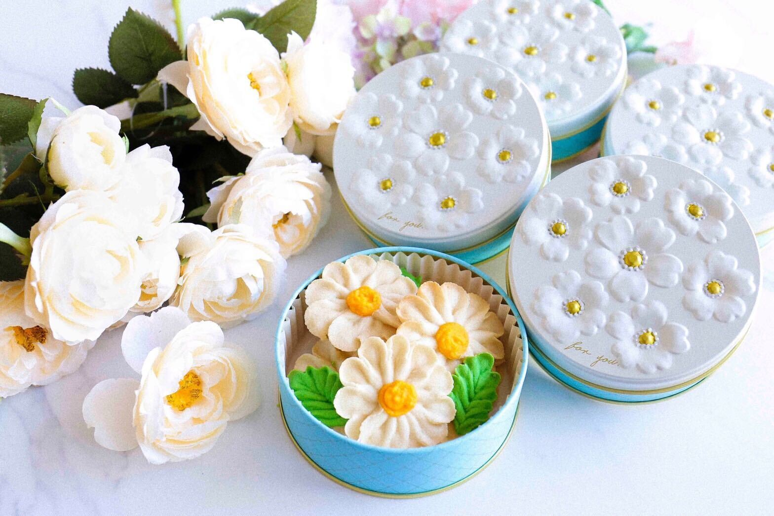【マーガレット】お花のぼうろ<5缶セット>