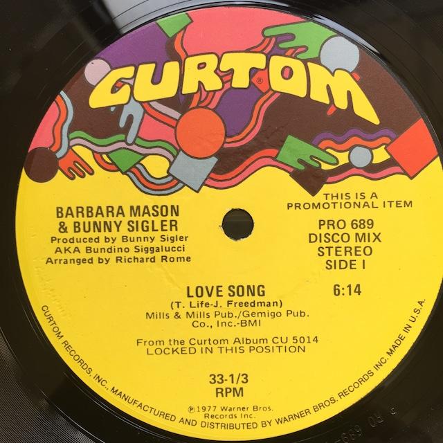 Barbara Mason & Bunny Sigler – Love Song / Locked In This Position